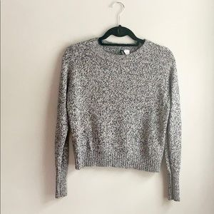 H&M Crew Neck Long Sleeve Marled Sweater